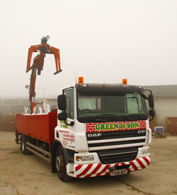 Green and Son have specialist delivery vehicles