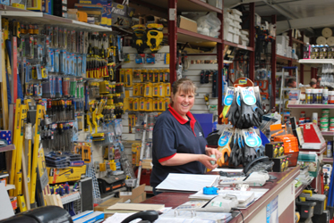 A Friendly welcome at Green and Son Builders Merchants Retails Department
