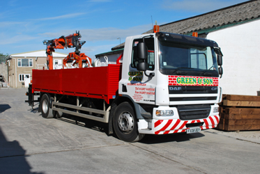 Green and Son Builders Merchants delivery wagon