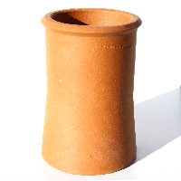 Roll Top Clay Chimney Pot available from Green & Son