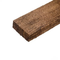 Brown Treated Fence Rails