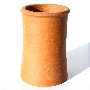 Roll Top Clay Chimney Pot