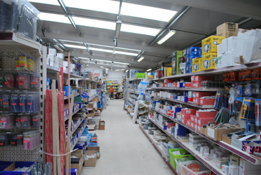 An extensive range of products at Green and Son Builders Merchants retail department