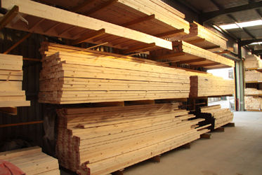 Green and Son Builders Merchants timber storage