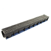 Black Plastic Linear Drainage Channel available from Green & Son