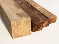 Brown Treated Timber Fence Posts