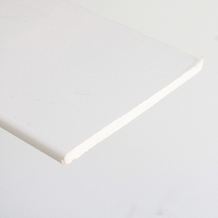 10mm White PVC flat soffit board available from Green & Son